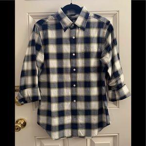 Men's Banana Republic Plaid Shirt Long Sleeve